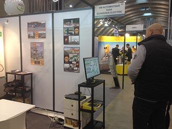 Imagen de nuestro stand en la feria de la industria de la minería en Belgica de este año